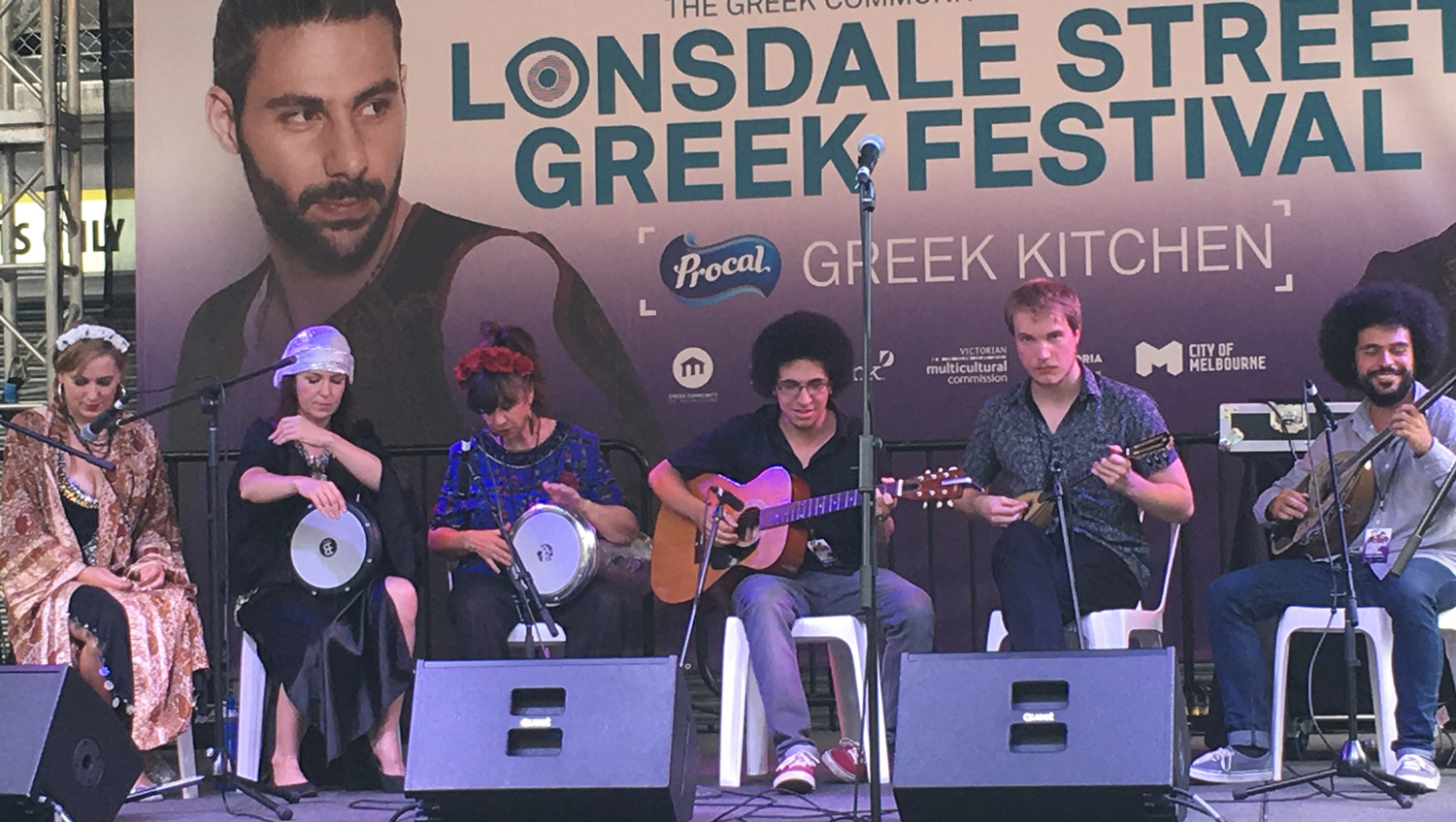 The Silk Roads Collective - 2018 at the Greek Festival on Lonsdale St, Melbourne