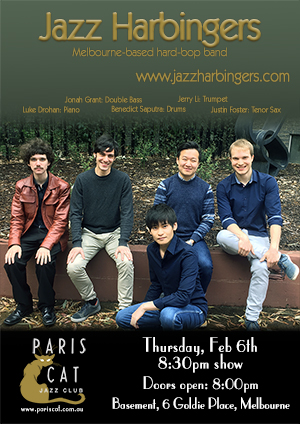 Jazz Harbingers gig at Paris Cat Jazz Club - Feb 6, 2020